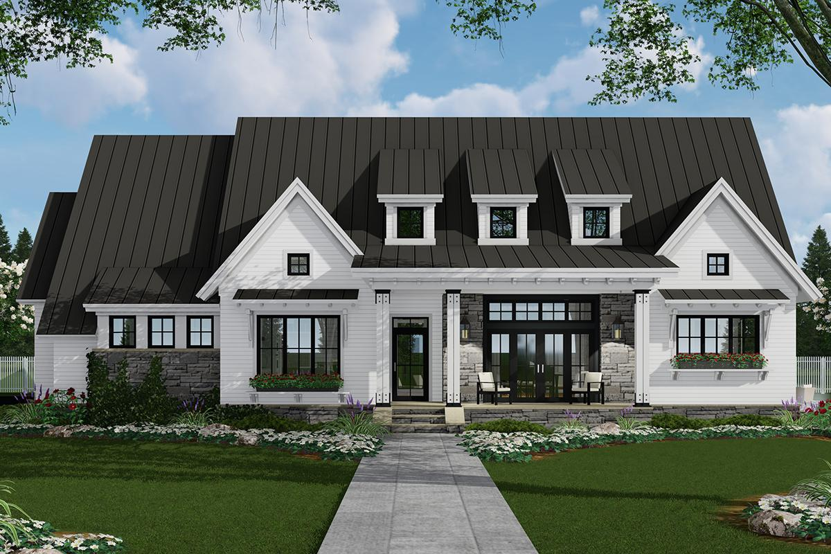 Modern Farmhouse Plan 2393 Square Feet 3 Bedrooms 25 Bathrooms 9401 00094