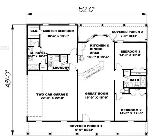 House Plans 1500 To 2000 Square Feet | Amazing House Plans