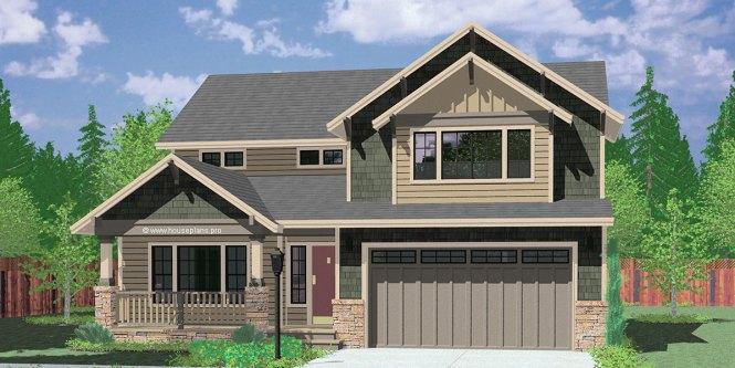9950 Fb 4 Bedroom House Plans Craftsman 40 Ft Wide