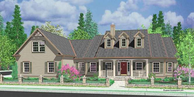10088 Colonial House Plans Single Level With Bonus Room