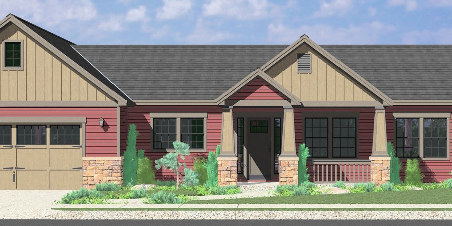 Single Level House Plans for Simple Living Homes 10173 Portland Oregon house plans  one story house plans  great room house  plans