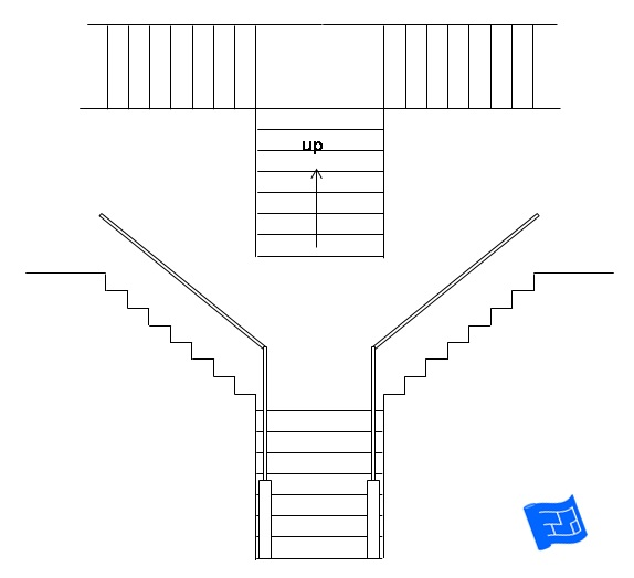 blueprint symbol for stairs