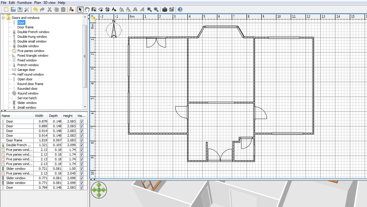 Dimension lines, texts, arrows and show the north direction with a compass rose. Free Floor Plan Software Sweethome3d Review
