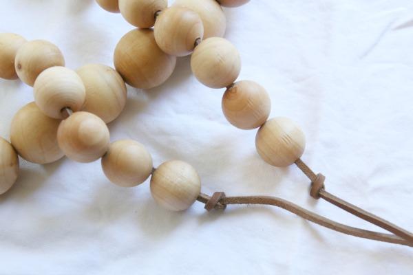 wood bead strand 8