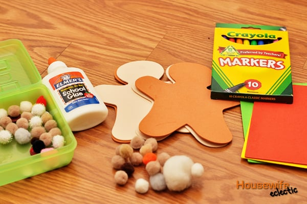 Foam Gingerbread Man Decorating Kit   Housewife Eclectic Foam Gingerbread Man Decorating Kit