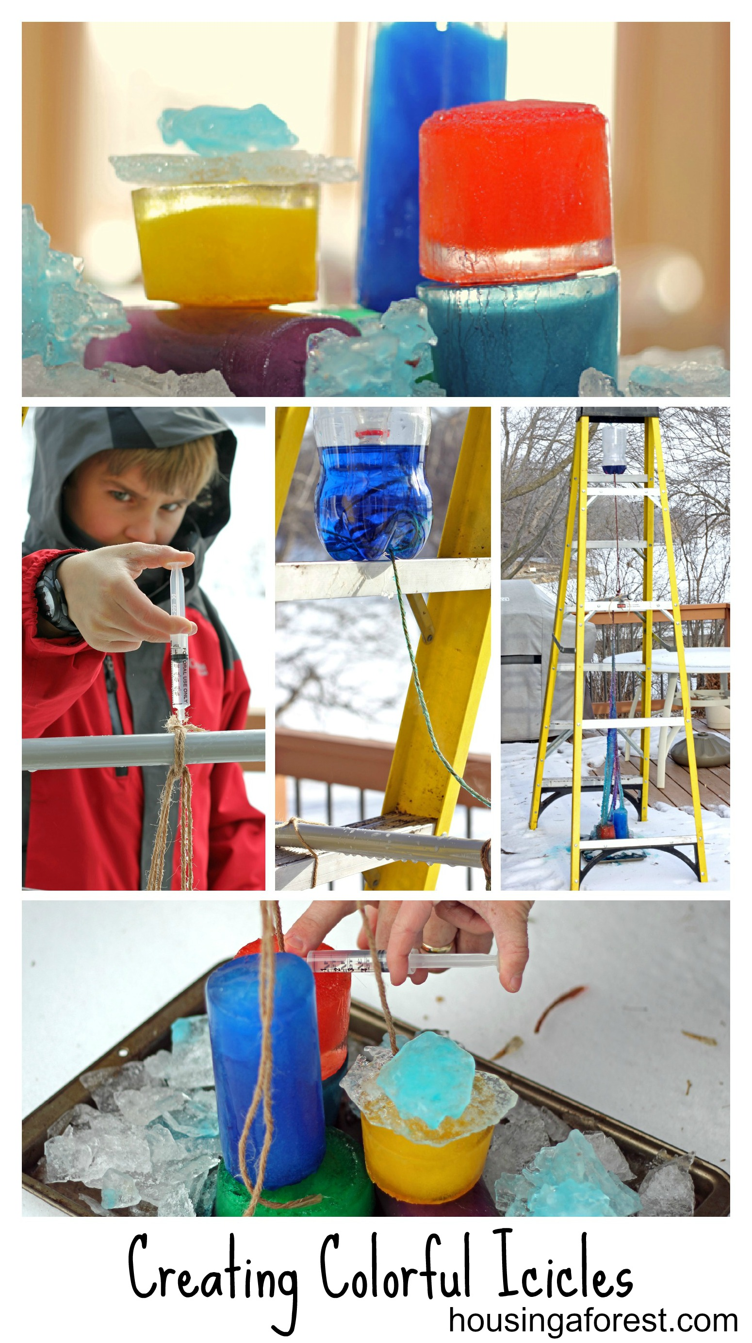 Creating Colorful Icicles
