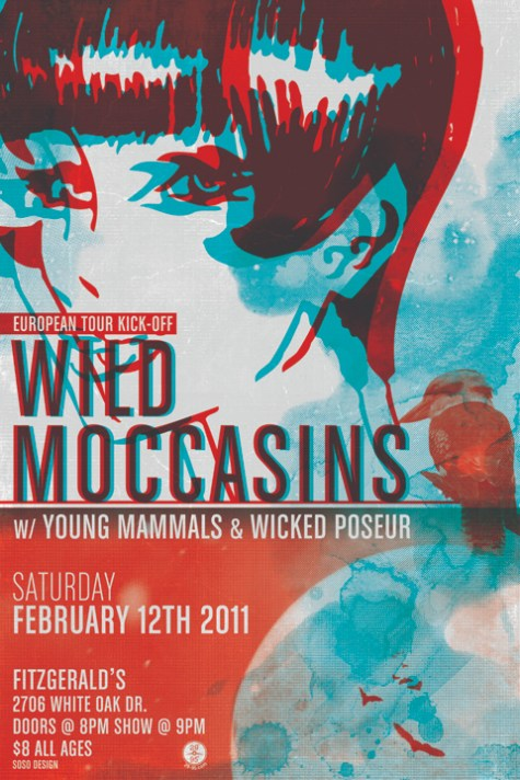 Wild Moccasins European Tour 2011 (poster by Tom So, SoSo Design)