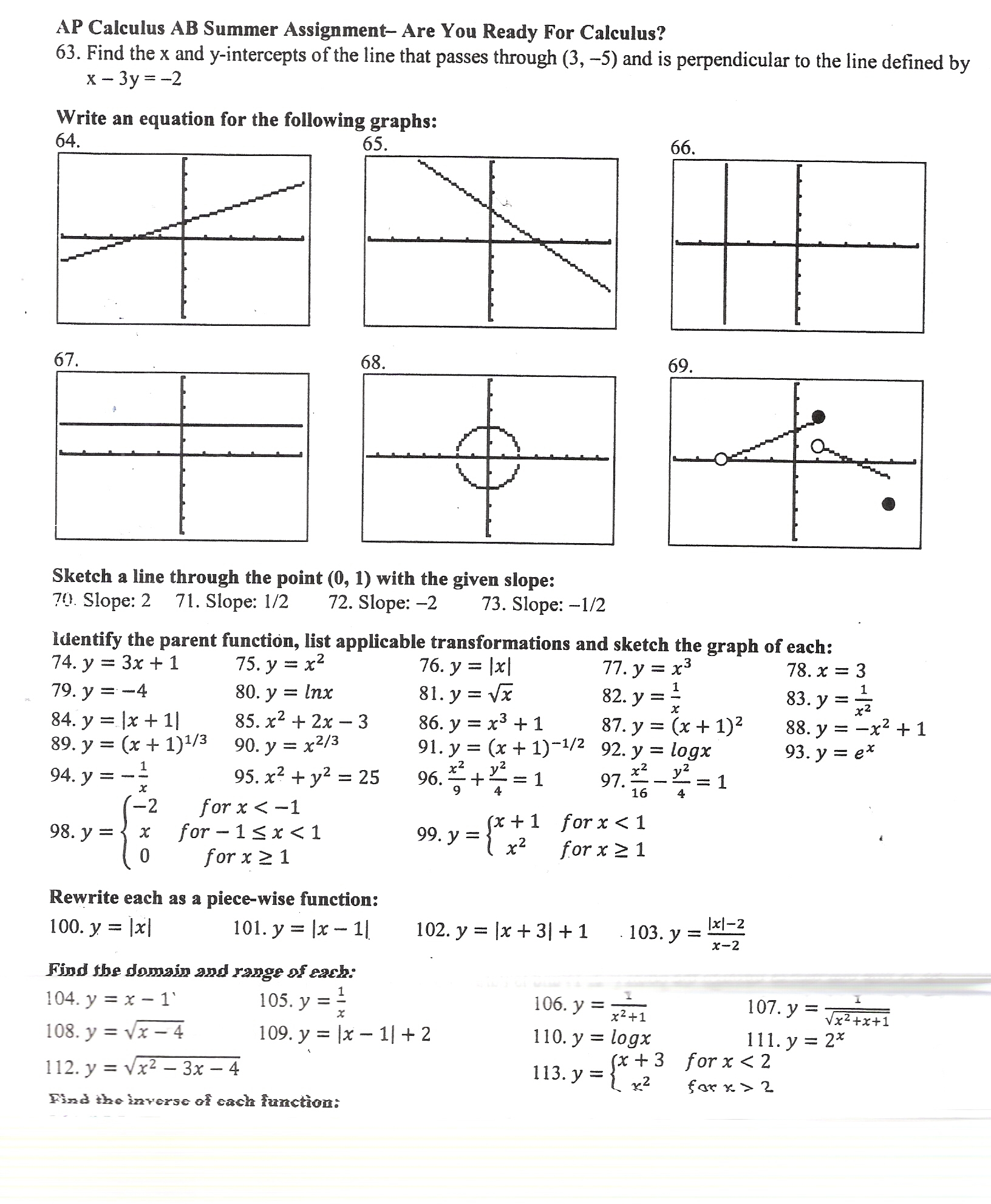 Ap Calculus Derivatives Worksheet Calculus Worksheet