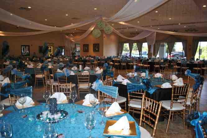 Quinceanera Venue Decor Of Tiffany Blue Aqua Quince Theme