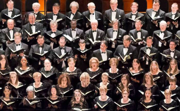Houston Symphony Chorus performing Carmina Burana during 17–18 season.