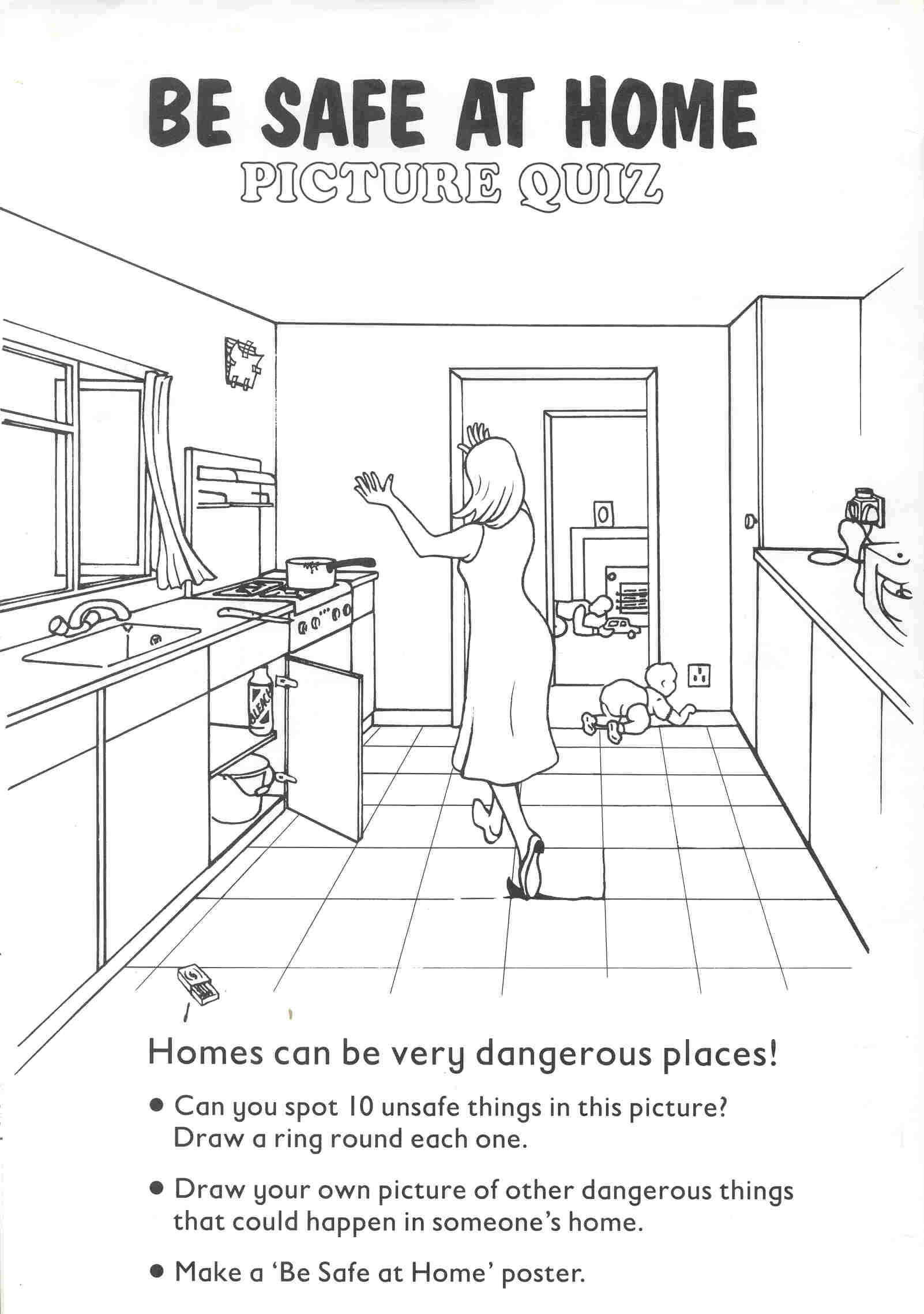 Hazards In The Home Worksheet Teaching Students With