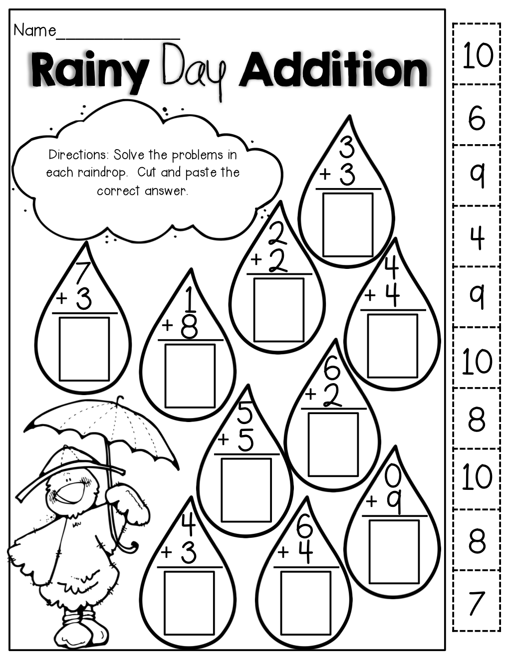 Collection Of Free Cut And Paste Math Worksheets For 2nd Grade Free Worksheets Samples