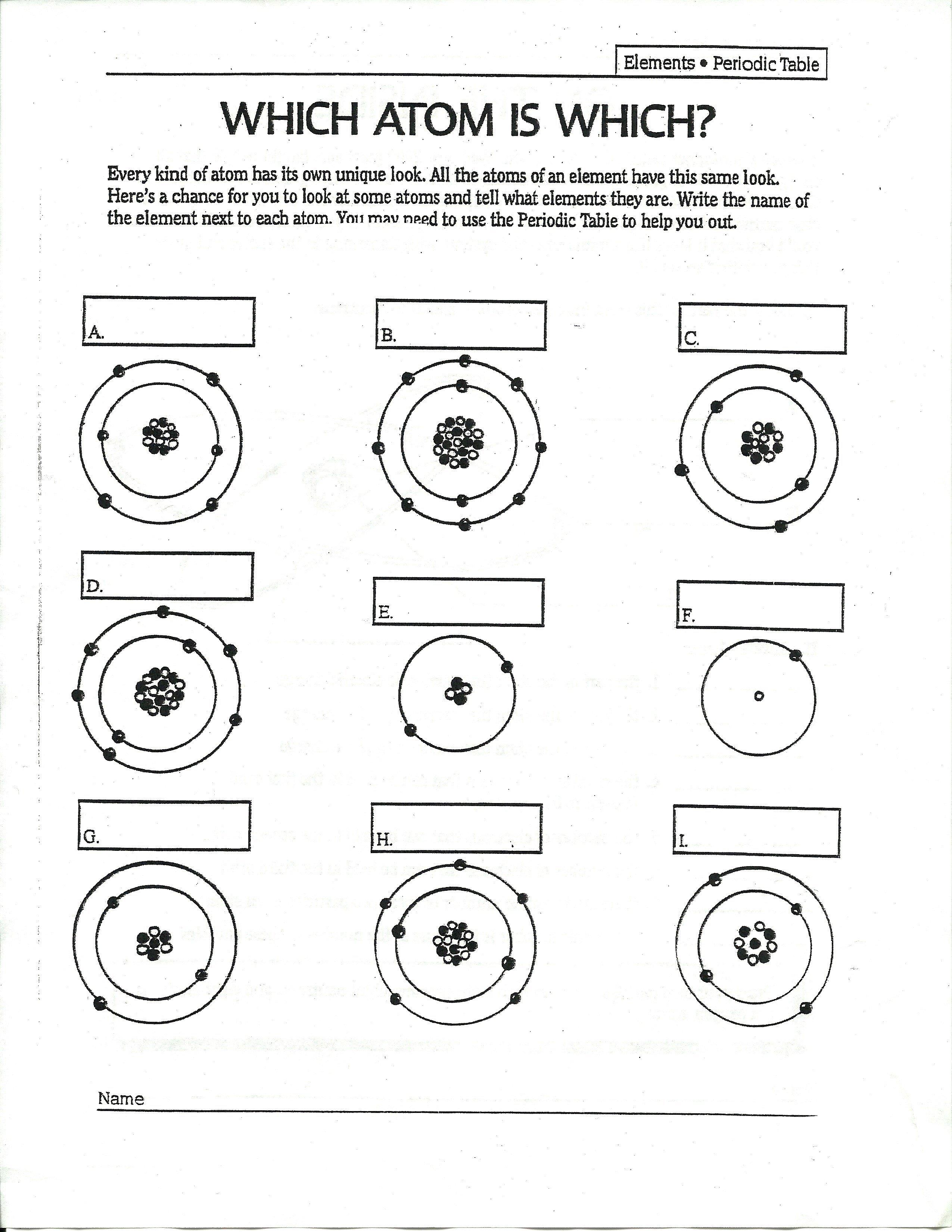 Bohr Model Practice Worksheet