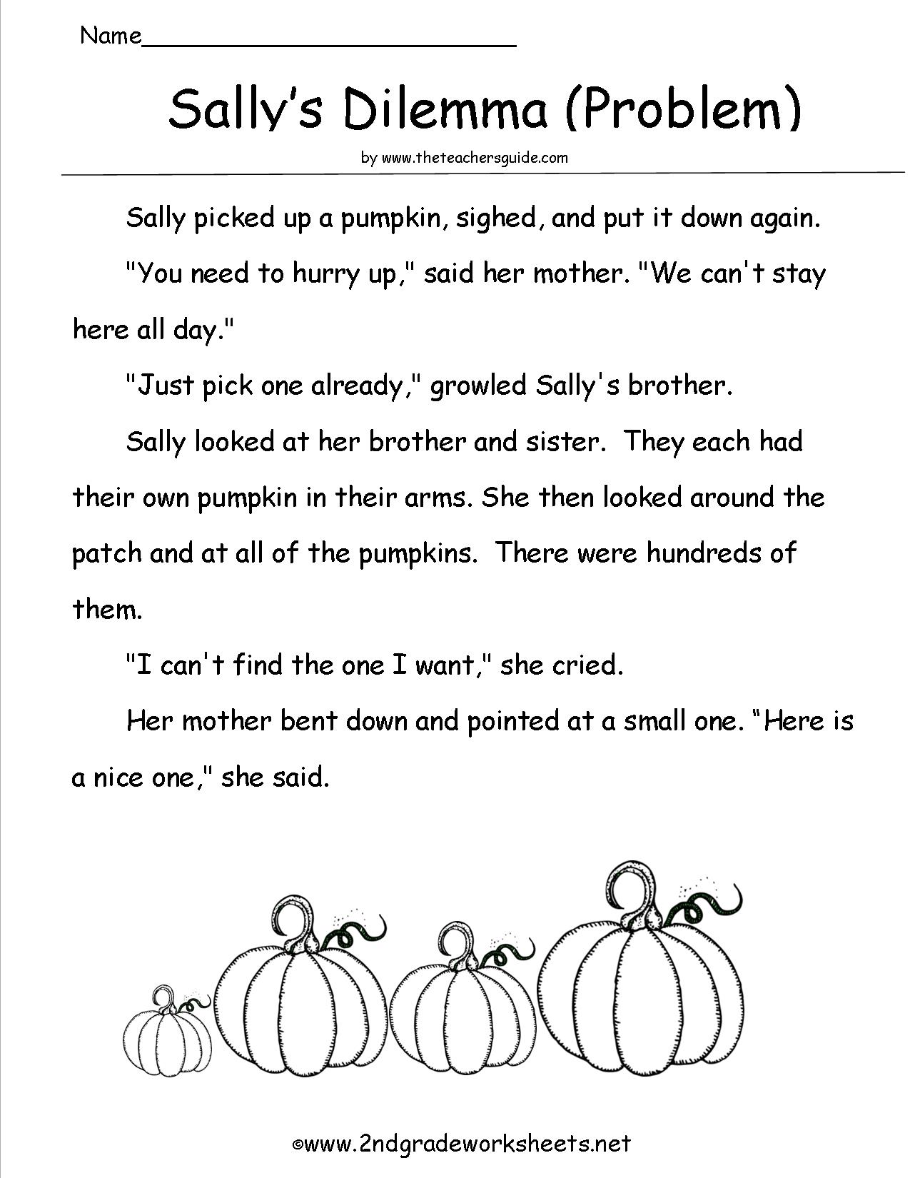 Halloween Worksheets For 2nd Grade Reading Free