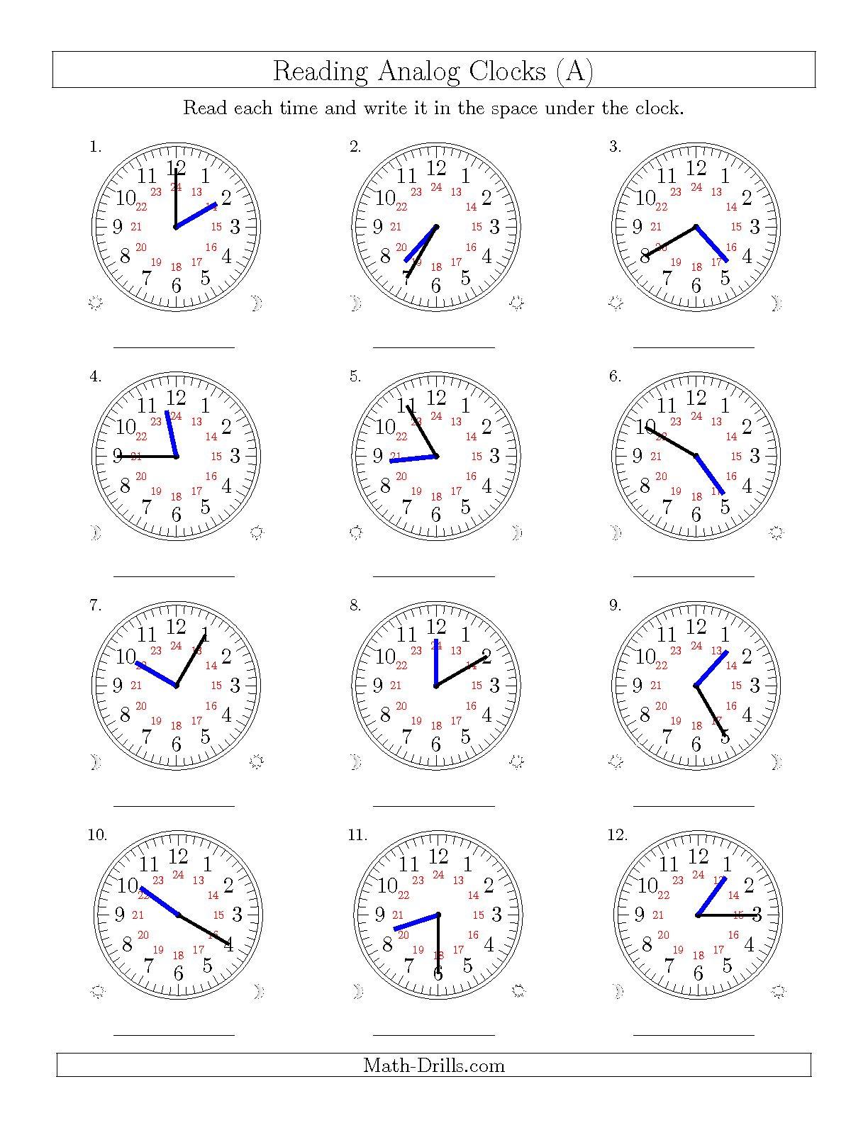 Time Worksheets 5 Minute Intervals