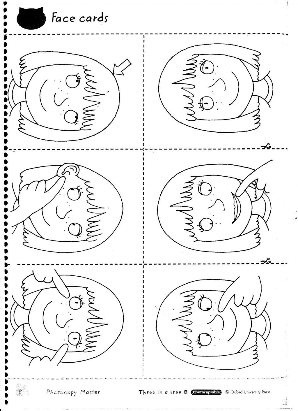 Face Parts Worksheets For Kindergarten