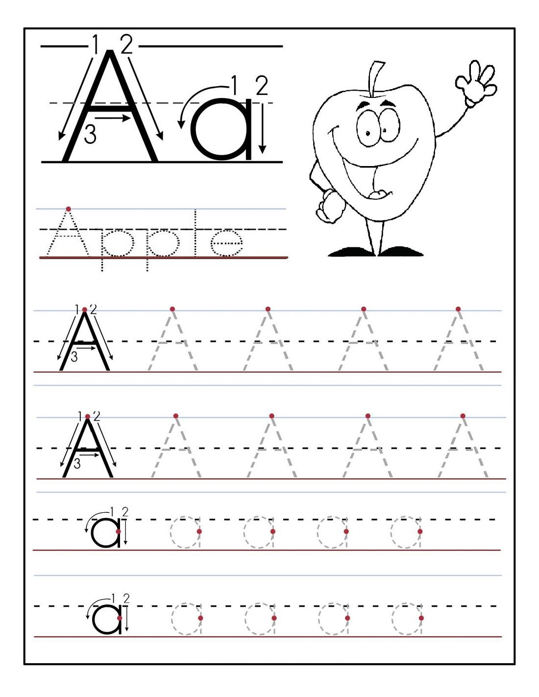 Kindergarten Alphabet Worksheets Tracing Free