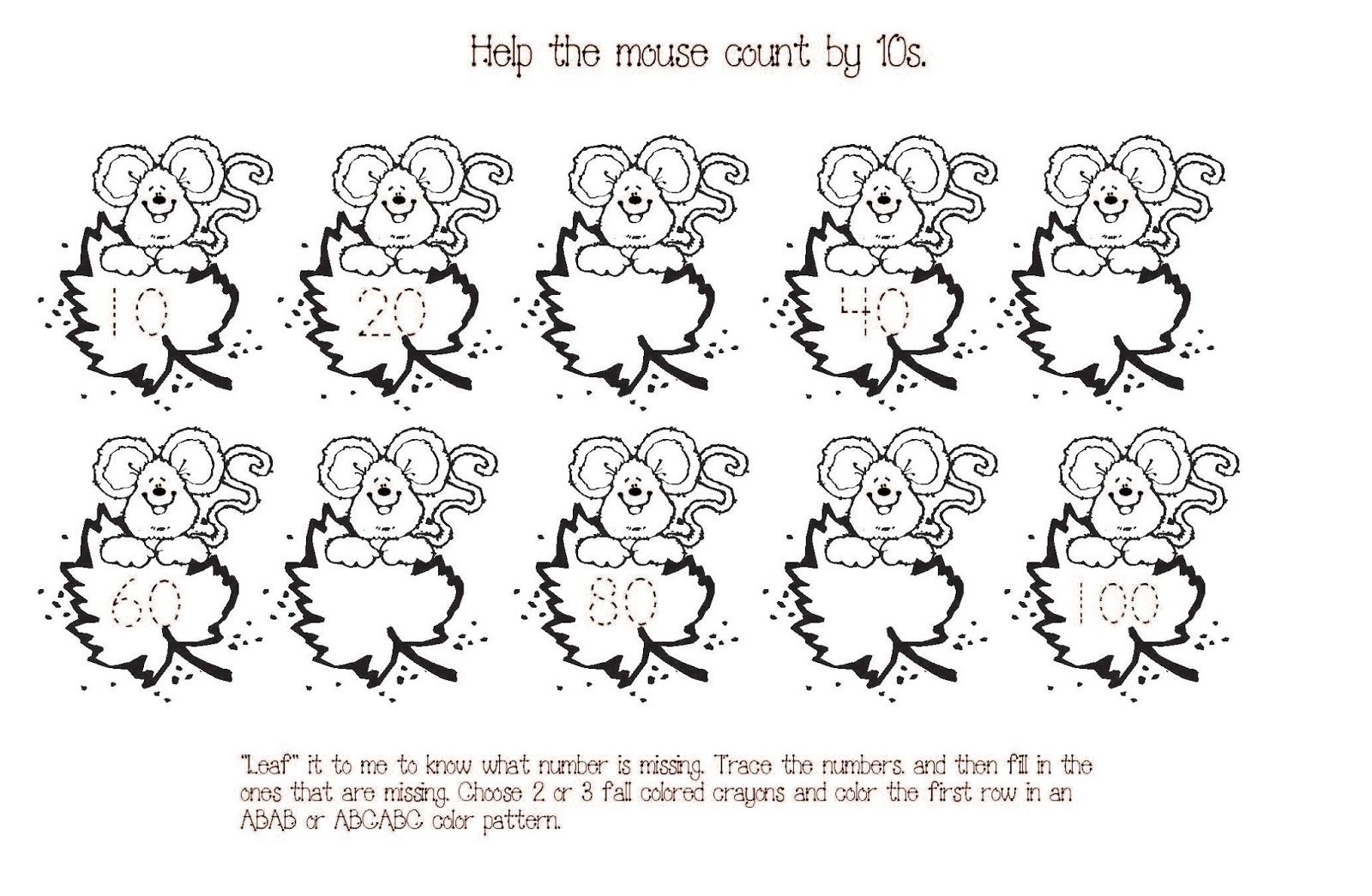 Count By 10 S Worksheets