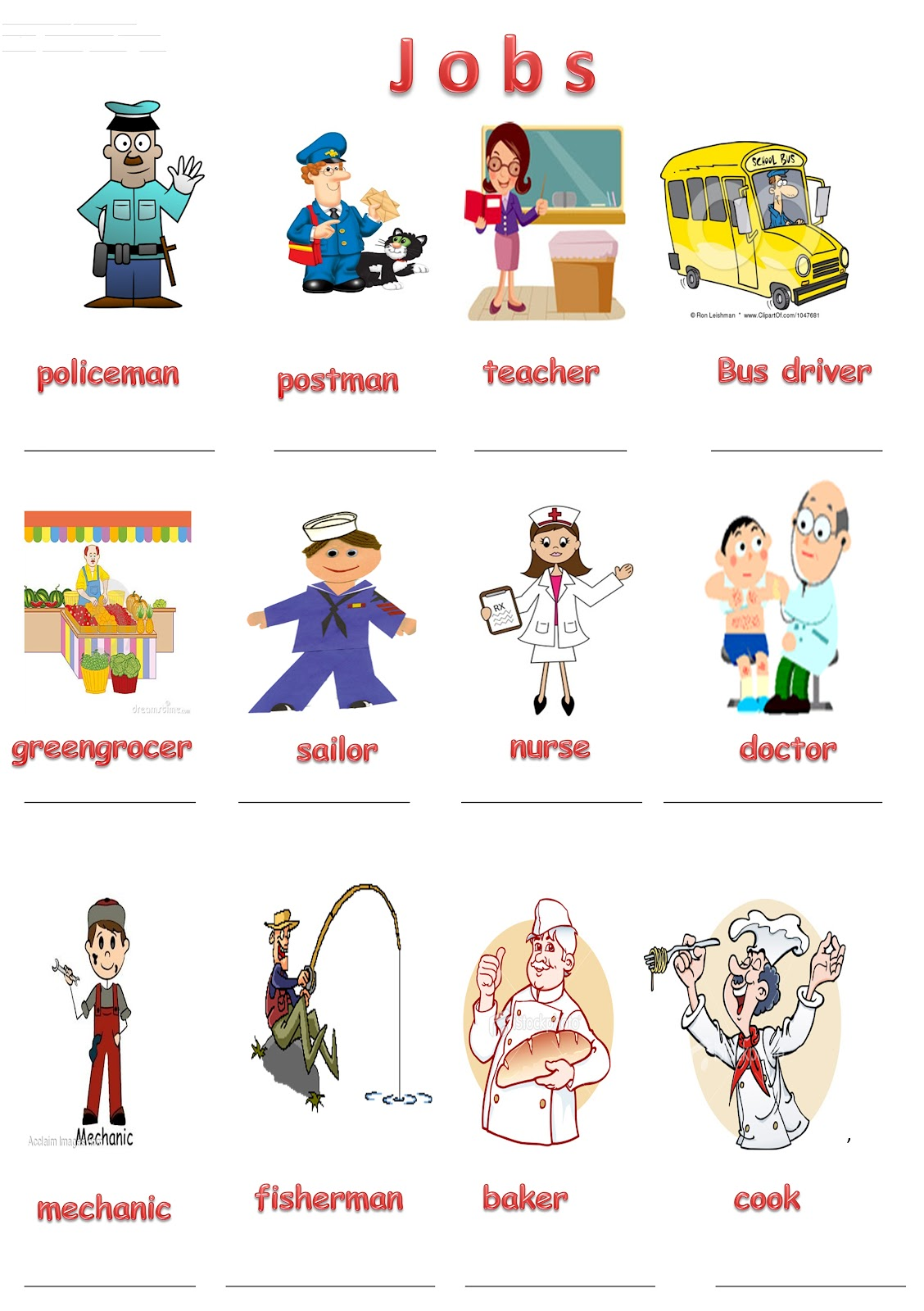 Jobs And Workplaces Worksheets