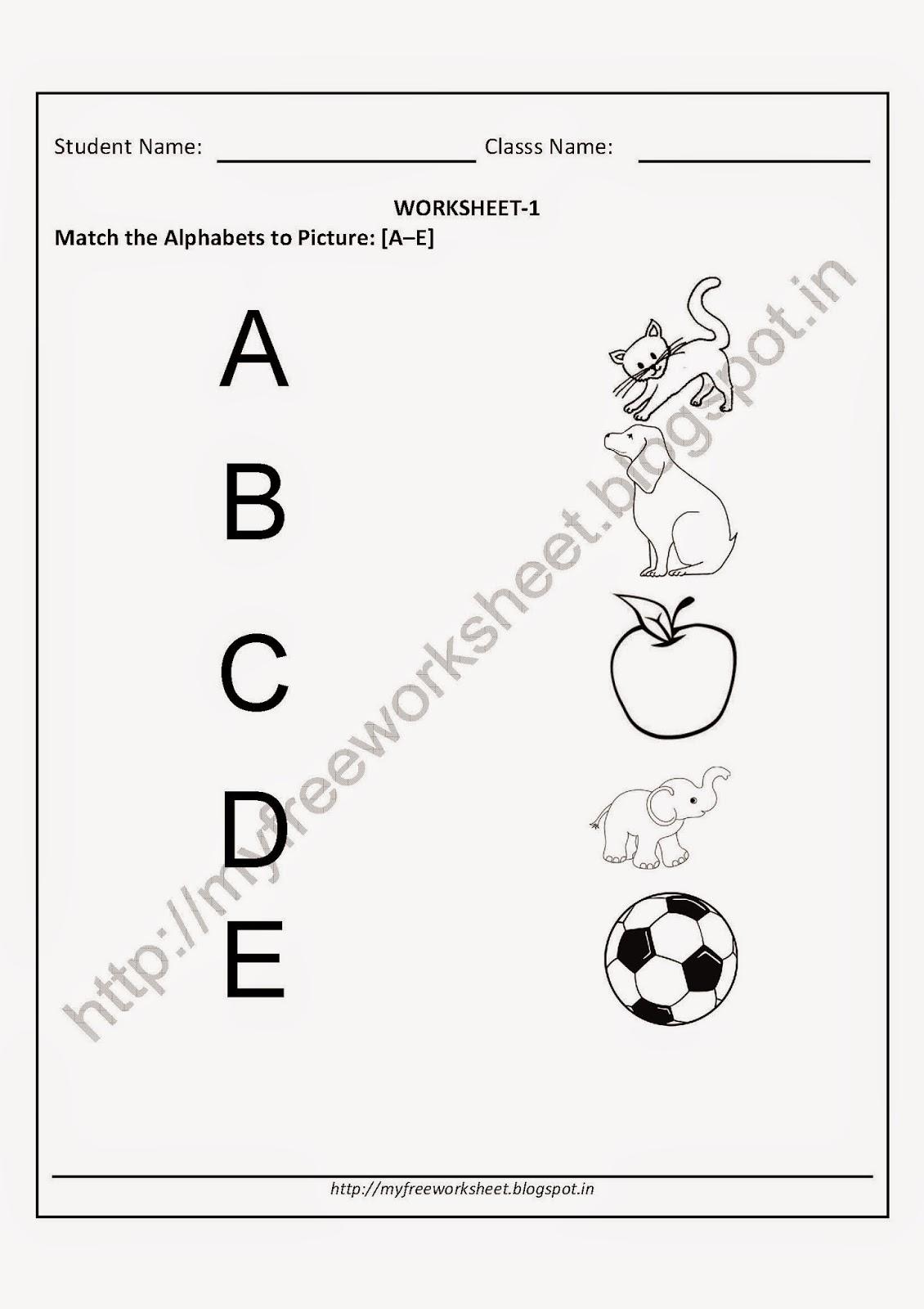 Worksheets For Kindergarten Kids