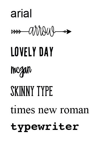 kies je favoriete lettertype en maak er woonsticker mee