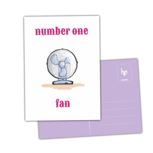 grappig deze kaart met ventilator Number one fan