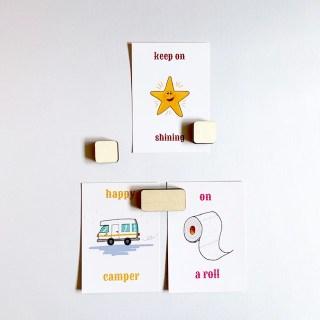 kaartenhouder muurdecoratie - combineer plak en klak voor een design foto wand - alles handgemaakt van duurzaam hout