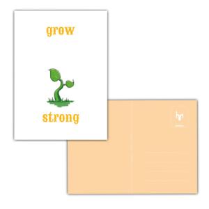 grow strong geboortekaartje NICU prematuur