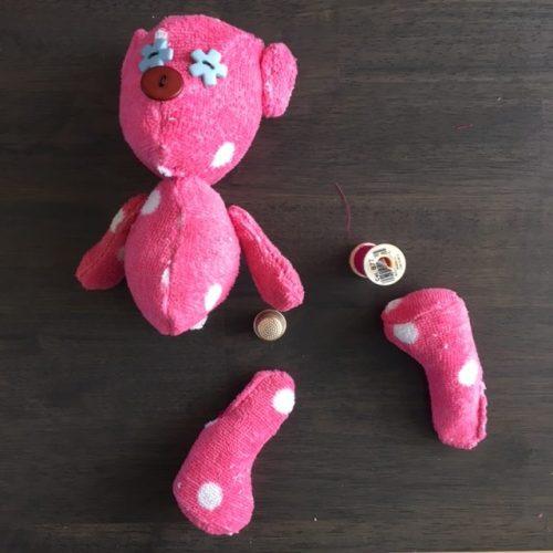 zelf teddybeer maken printable