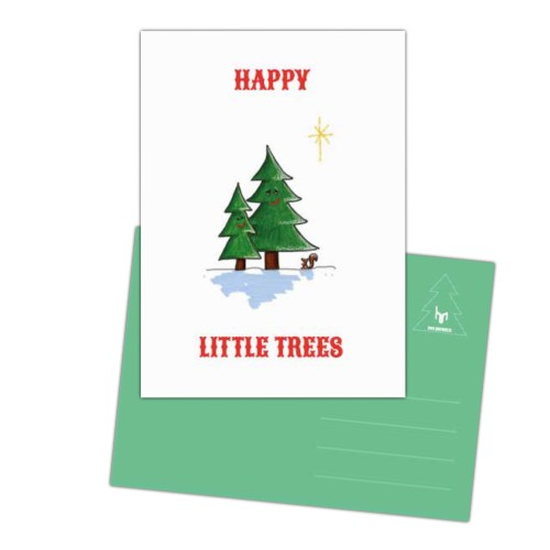 vrolijke kaart happy Little trees