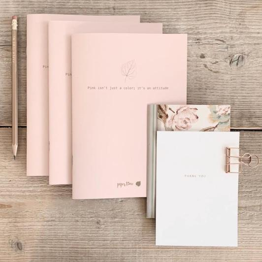 Moederdag Give Away roze schriftje paper time