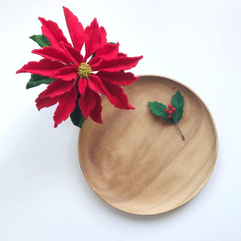 Viltbloemist academy kerstroos maken