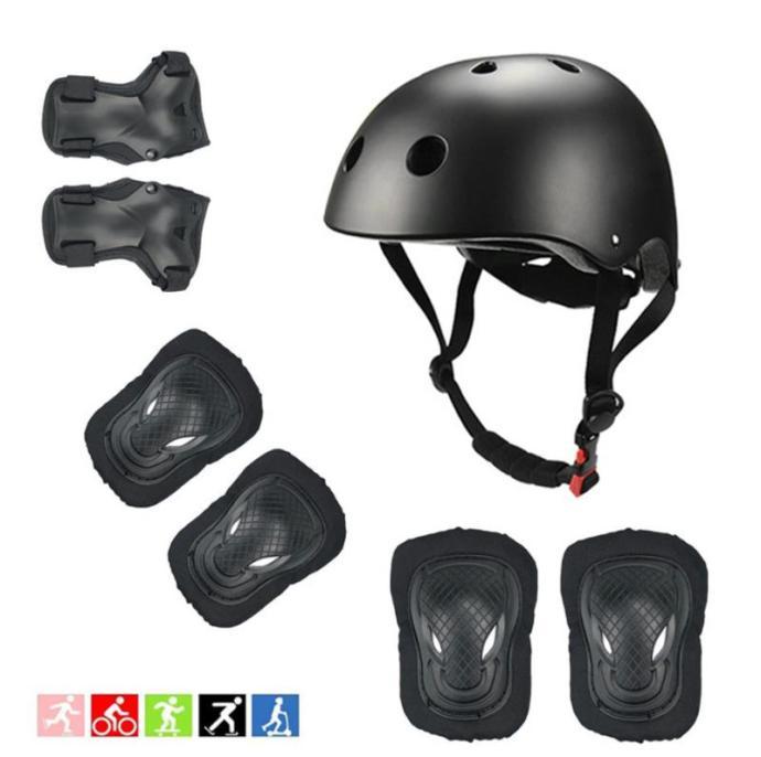 Black kids helmet set