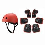 Red Kids Helmet Set