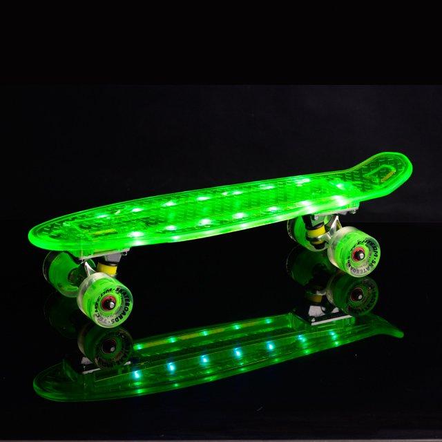Bluetooth Led light skateboard green