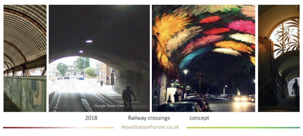 hove railway foot-crossings including Fonthill Rd tunnel concept
