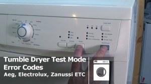 Tumble Dryer fault code errors Aeg, Electrolux, Zanussi Etc
