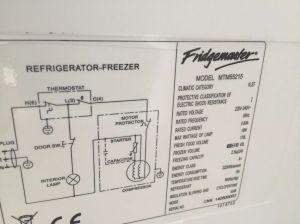 How to find your FridgeFreezer model number