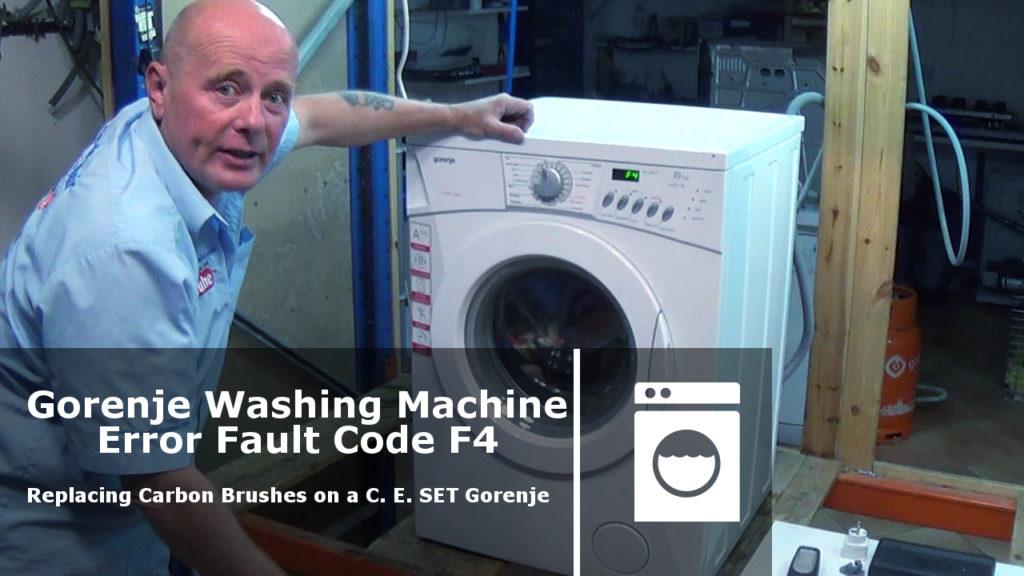 Gorenje Washing Machine Not Spinning Error Fault Code F4