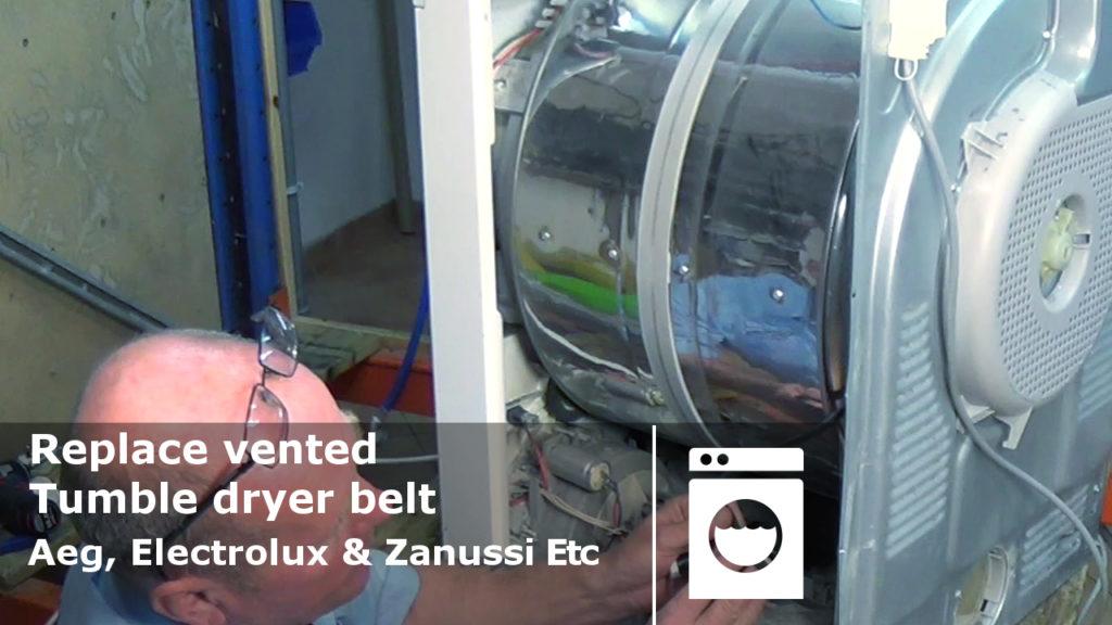 Replace Vented Tumble Dryer Belt Aeg Electrolux Amp Zanussi Etc