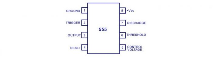 LED Blinking Circuit using 555 Timer