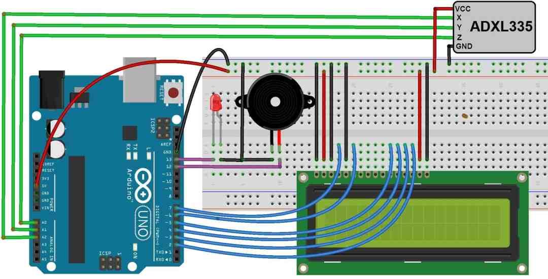 Arduino Earthquake Detector Alarm