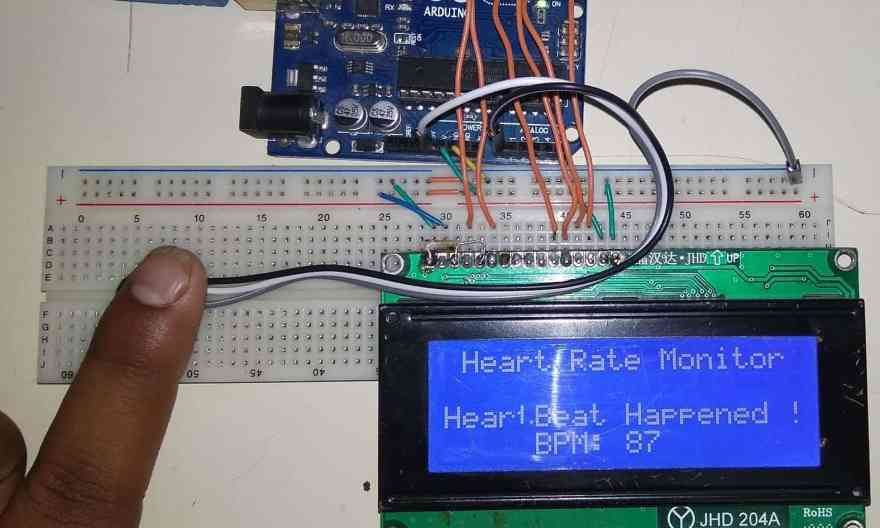 Heartbeat/Pulse/BPM Rate Monitor using Arduino & Pulse Sensor