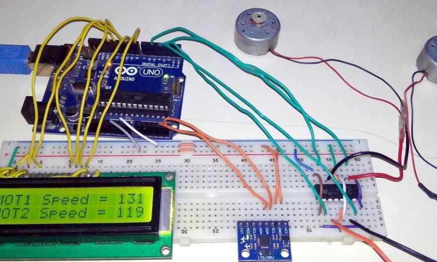 DC Motor Control using MPU6050 Gyro/Accelerometer
