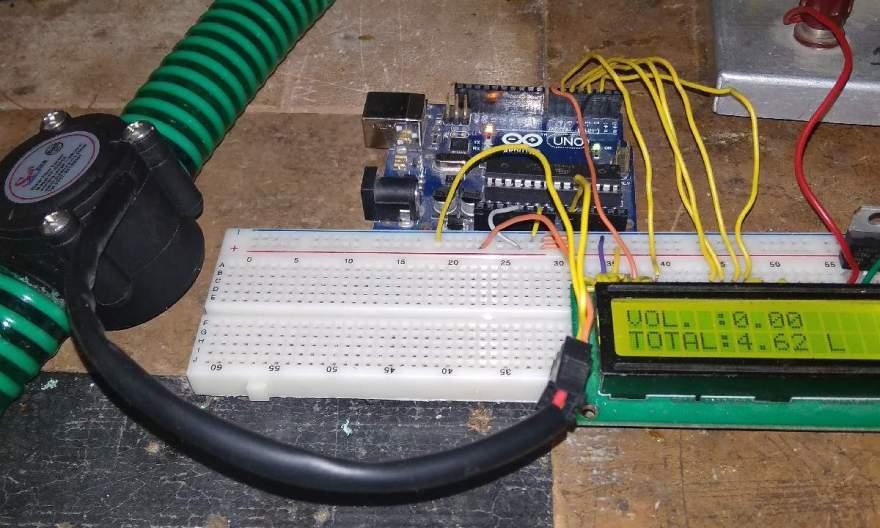 Water Flow Sensor for Flow Rate & Volume Measurement