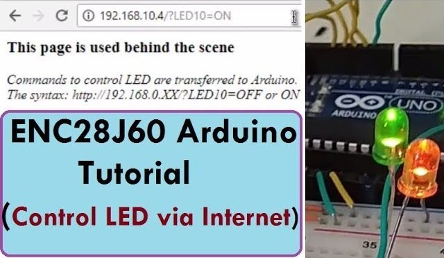 Control LED on Inernet using Arduino & ENC28J60 Ethernet Module