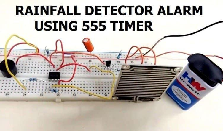 Rainfall Detector Alarm using 555 Timer & Rain Sensor