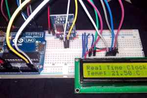 Arduino & DS3231 Based Real Time Clock (RTC) & Temperature Monitor