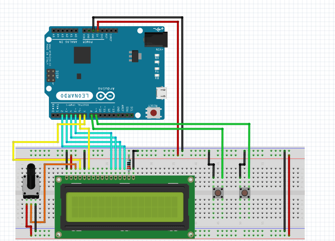 Stopwatch Using Arduino & LCD with Start, Stop & Reset Button