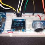 Range Finder using Ultrasonic Sensor & Arduino with OLED Display